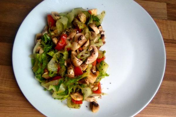 Mushroom Cucumber Salad