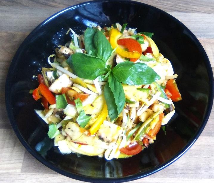 Sprout Mushroom Salad