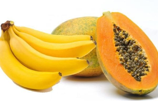Papaya and Banana
